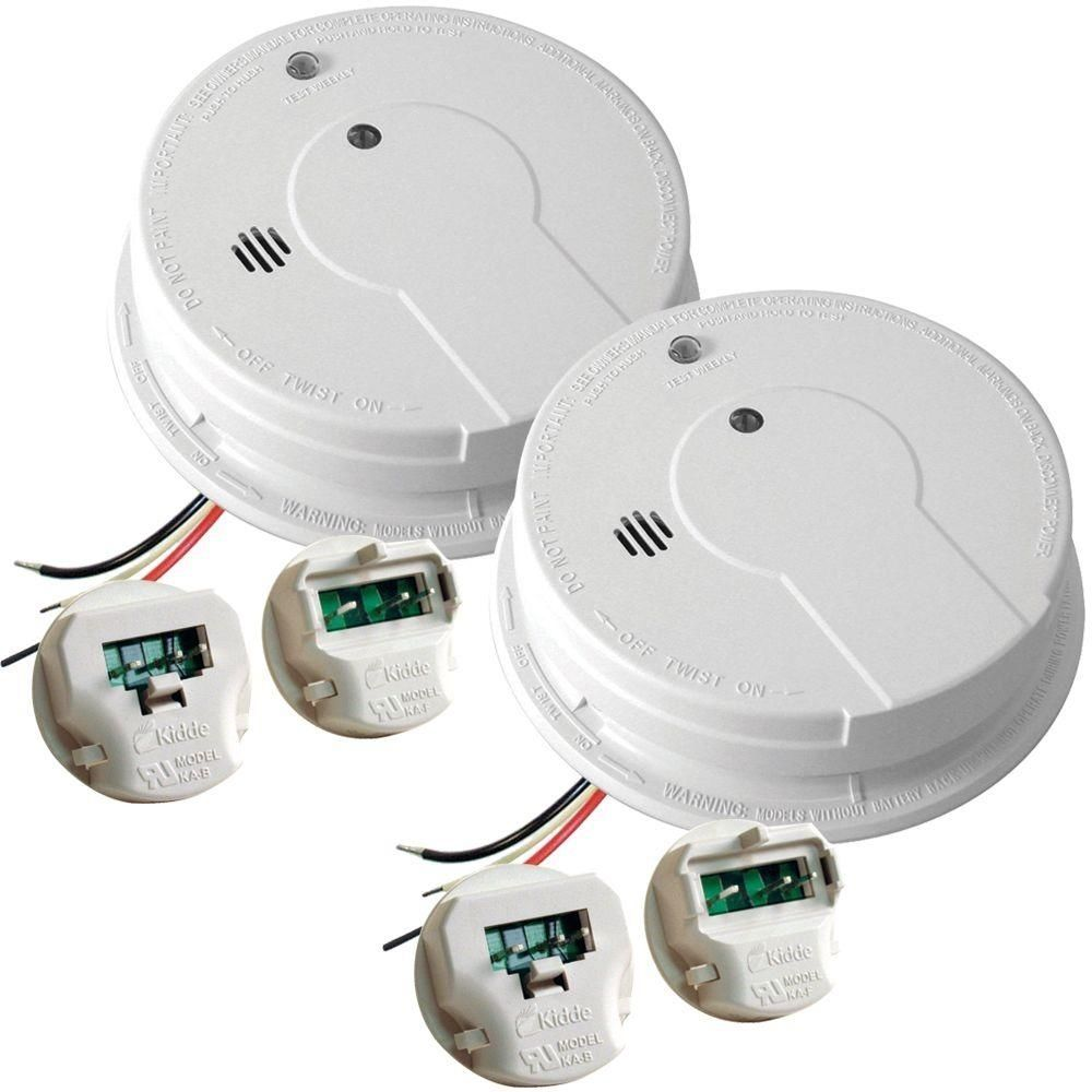 Kidde Hardwired 120 Volt Photoelectric Smoke Alarm Battery Back Up