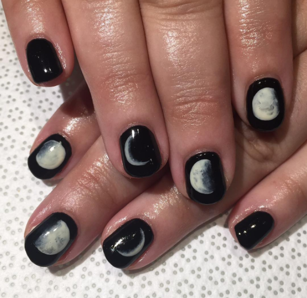New Moon To Full Nails Art