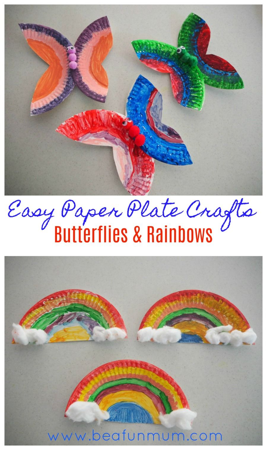 Easy Paper Plate Crafts Butterflies And Rainbows Be A Fun Mum
