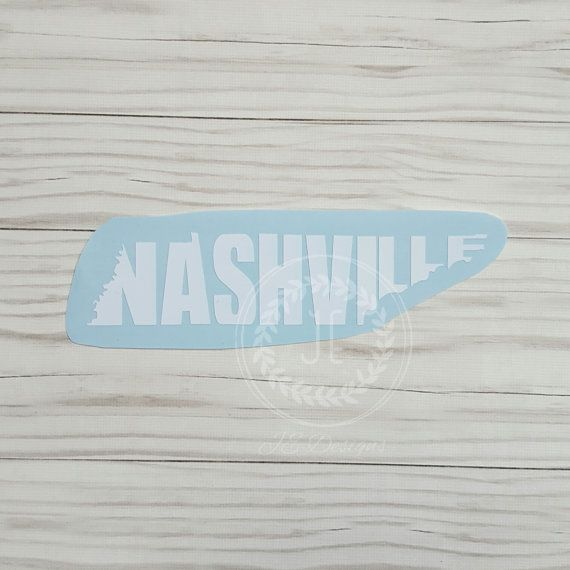 Nashville tennessee tn vinyl decal state city by jedesignshop