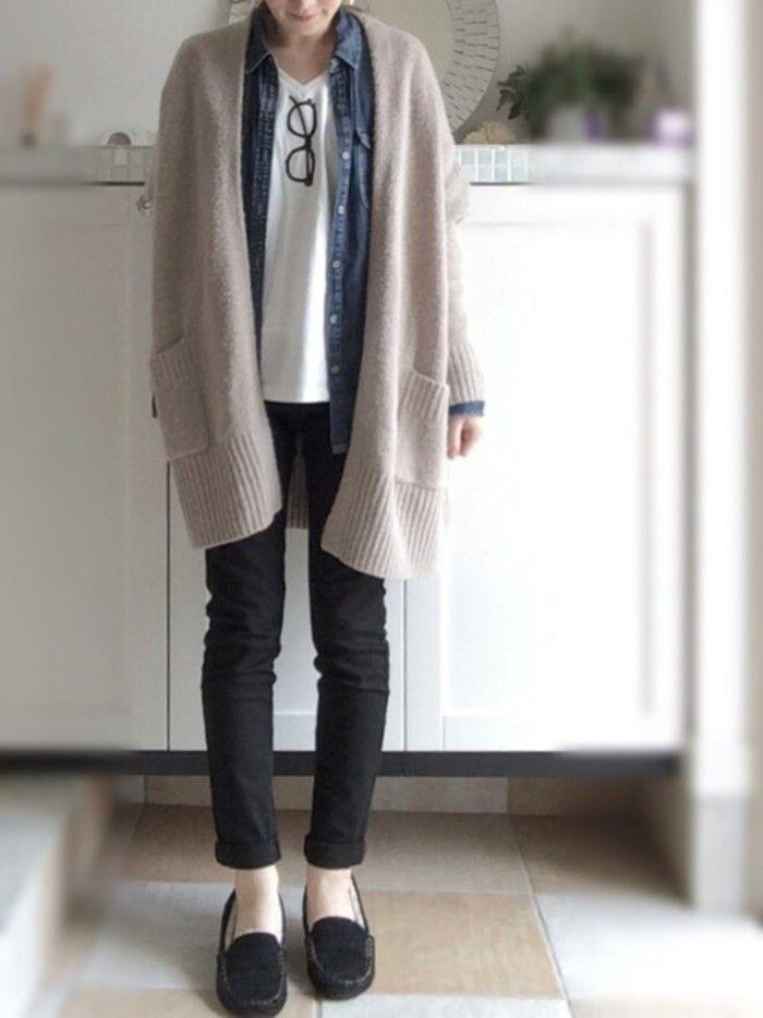 春だから軽やかに さらっと羽織れる ロングカーディガン の素敵コーディネート集 キナリノ ファッションスタイル ファッション ファッション コーディネート