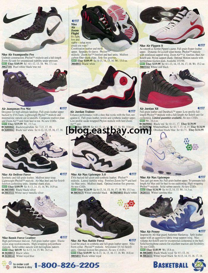estrategia Bourgeon monte Vesubio  Image result for nike catalog vintage 1990's basketball | ナイキ, スニーカー, 靴