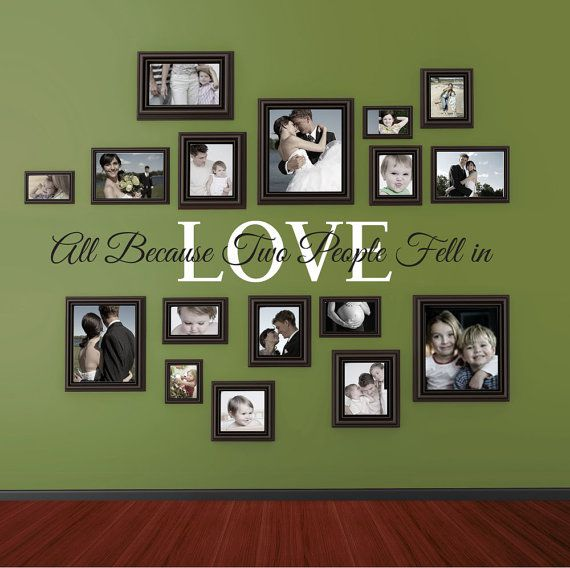 All because two people fell in LOVE vinyl wall by wildgreenrose | Me ...