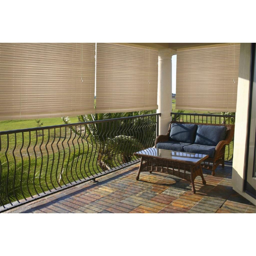 Lewis Hyman Malibu Cream Outdoor/ Indoor Roll Up Shade By Lewis Hyman