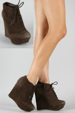 Shoehorne Worthy27 - Womens Dark Brown Suede Worn Look Lace-Up ...