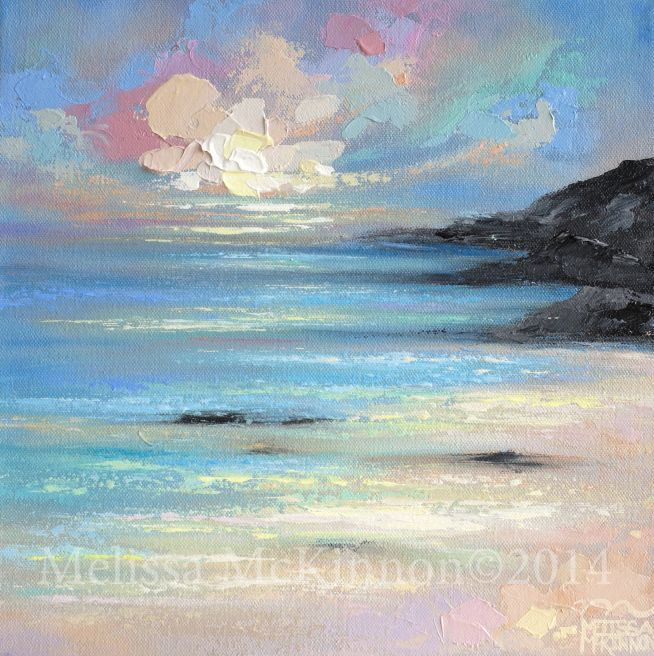 Sold Several Paintings From The Vina Del Mar Chile Plein Air Collection Colourful Abstract Beach Ocean Sky Paintings On Canvas By Canadian Artist Meliss Sky Painting Canvas Painting Landscape Sunrise Painting