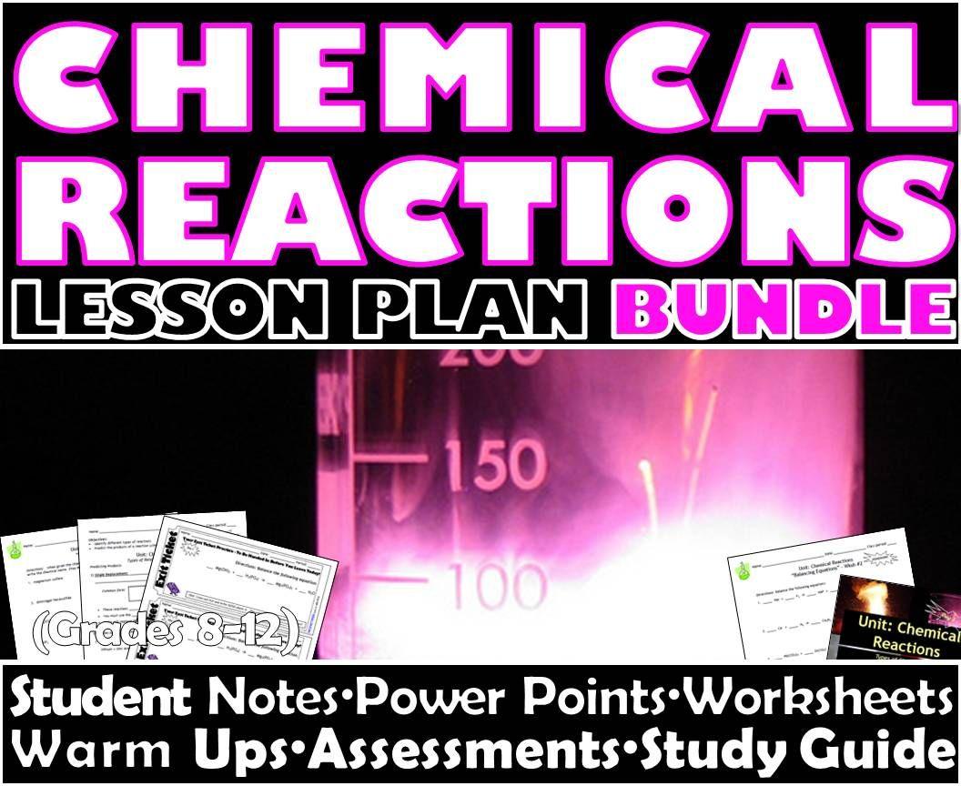 Lesson Plan Bundle Chemical Reactions