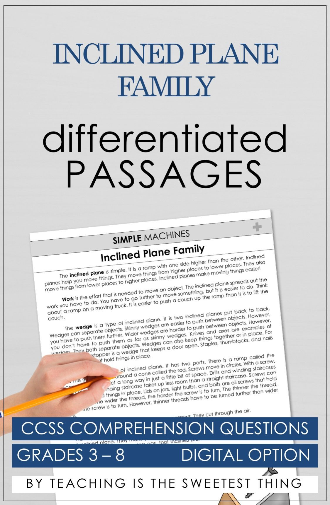 - Simple Machines: Passages (With Images) Reading Comprehension