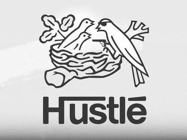 hustle | humour | Famous logos, Logo food, Logos