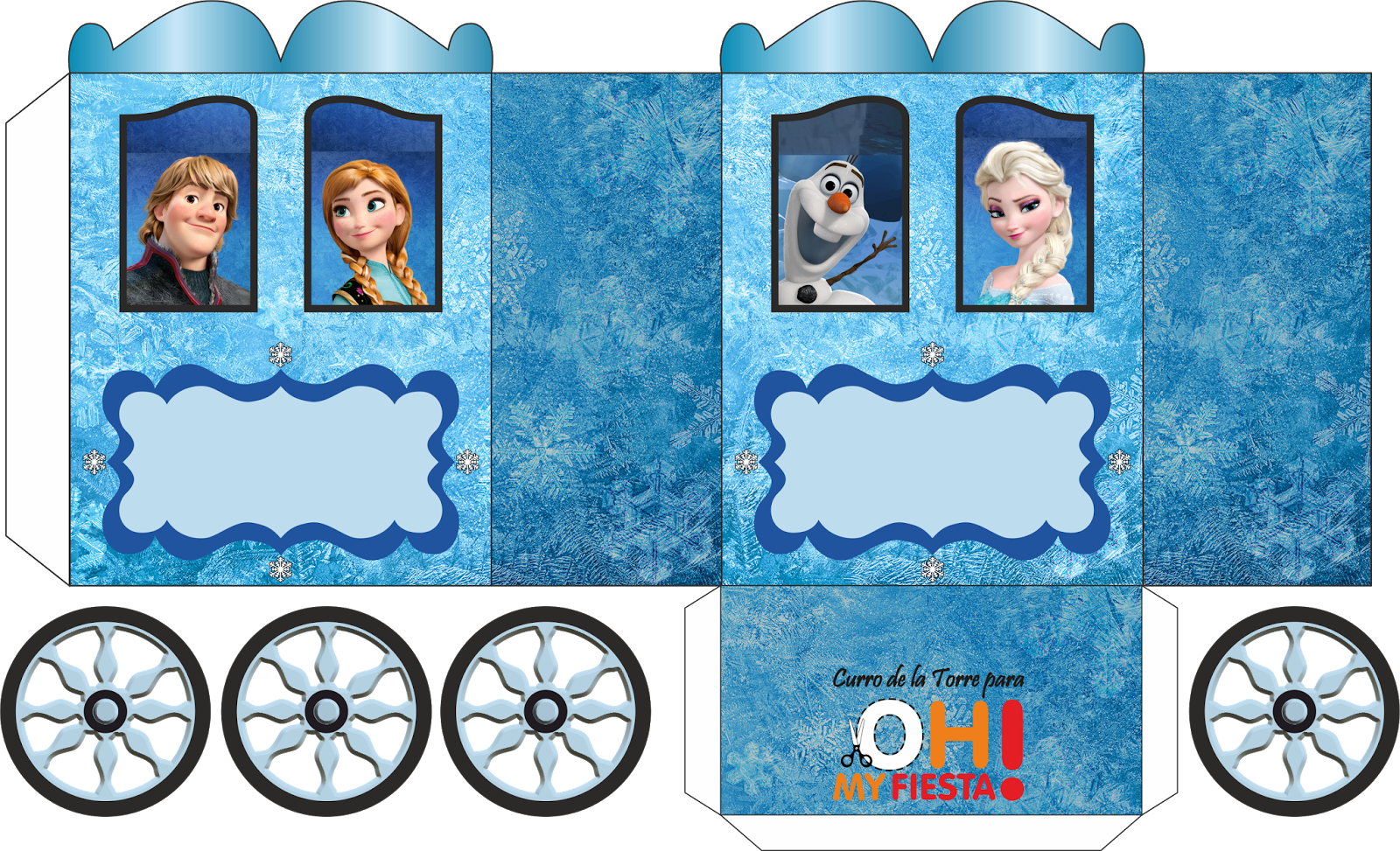 Well-known Caixinhas festa Frozen para imprimir e montar | Festa Frozen  TZ84