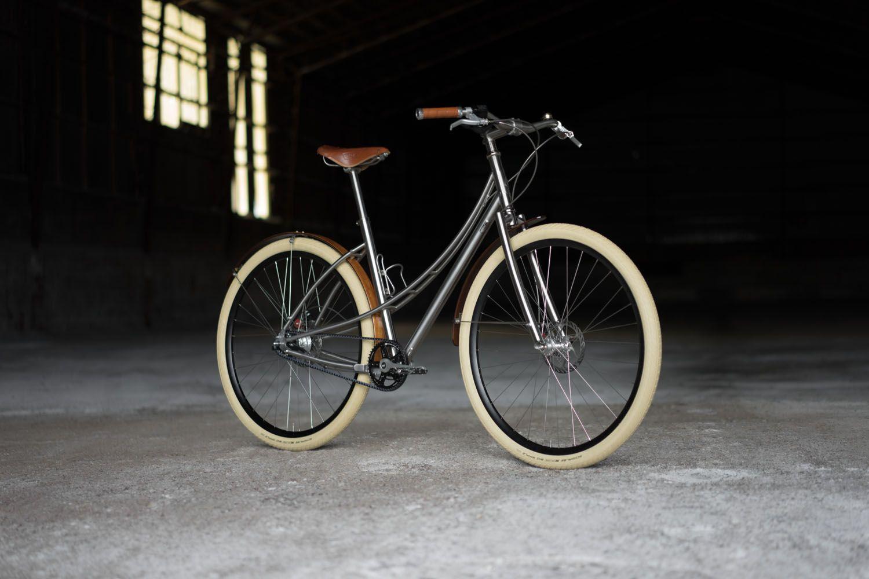 No.5 Titanium and Steel City Bike Budnitz Bicycles Store
