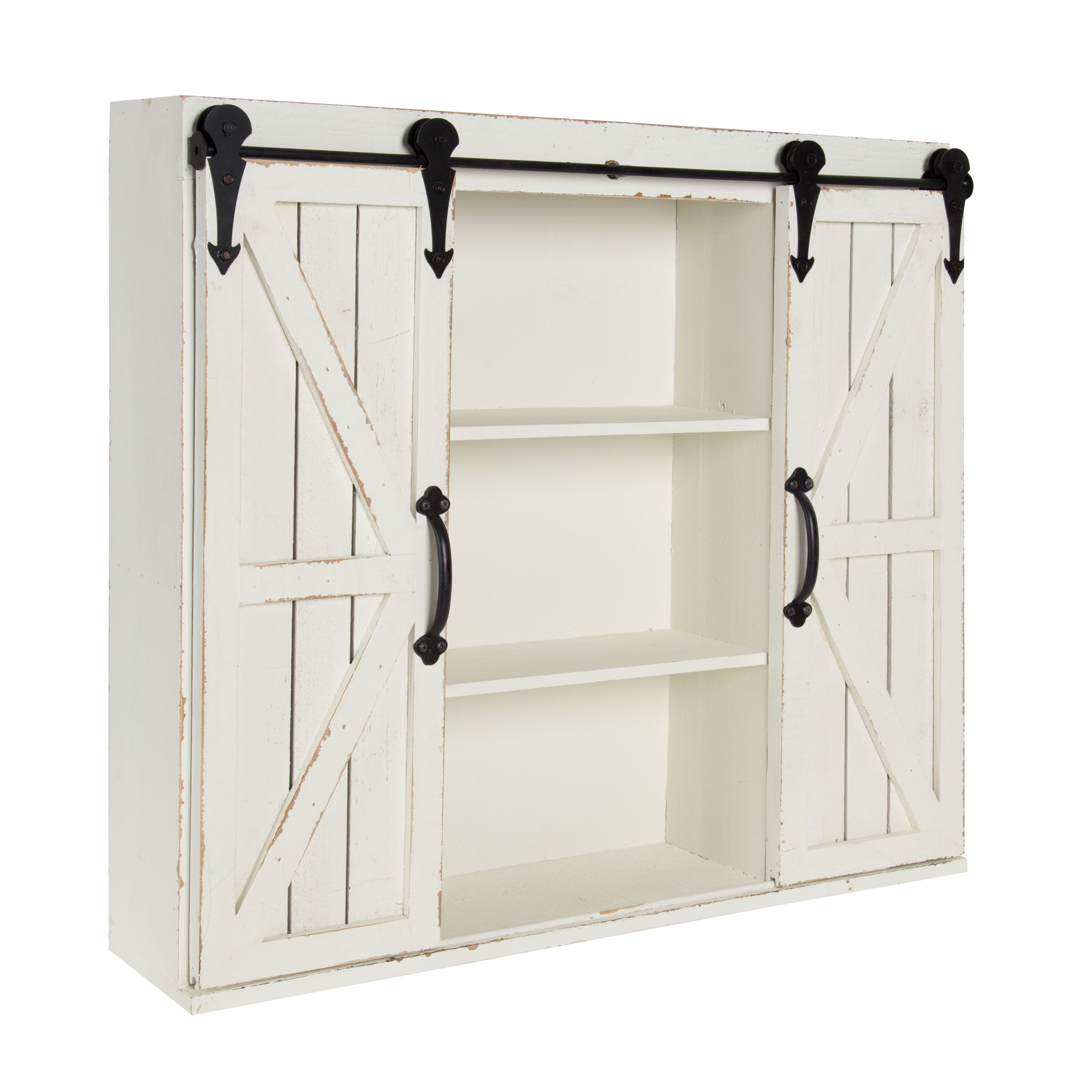 Kate and Laurel Cates Rustic Wood Wall Storage Cabinet with