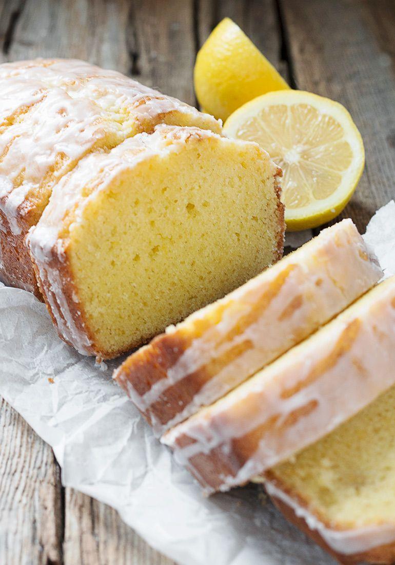 Lemon Sour Cream Pound Cake Loaf