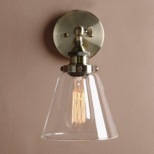 pathson antik deko design klar glas innen wandbeleuchtung