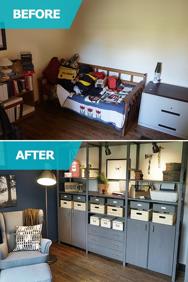 The Ikea Home Tour Squad Created A Rustic Man Cave For A Well Deserving Father And Firefighter They Helped Add Addi Ikea Home Tour Home Tiny House Inspiration