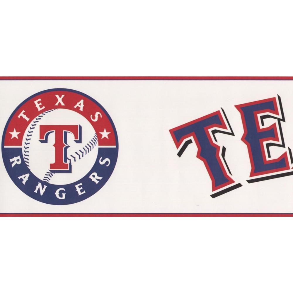 York Wallcoverings Texas Rangers MLB Baseball Team Fan