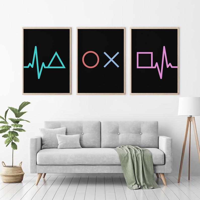 Video game decor, Gaming poster, Game room wall art, Man cave sign, Mens room, Teen boy bedroom, Kids, Geek, Nerd gift for him, DIGITAL FILE