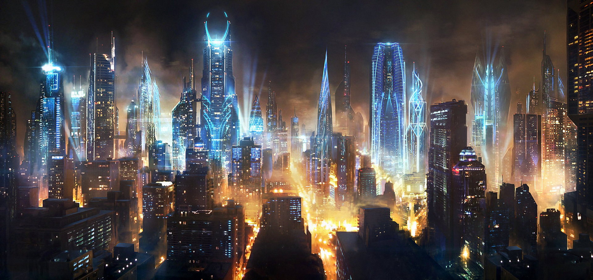 Futuristic City Artwork Fantasy Art Concept Wallpapers HD