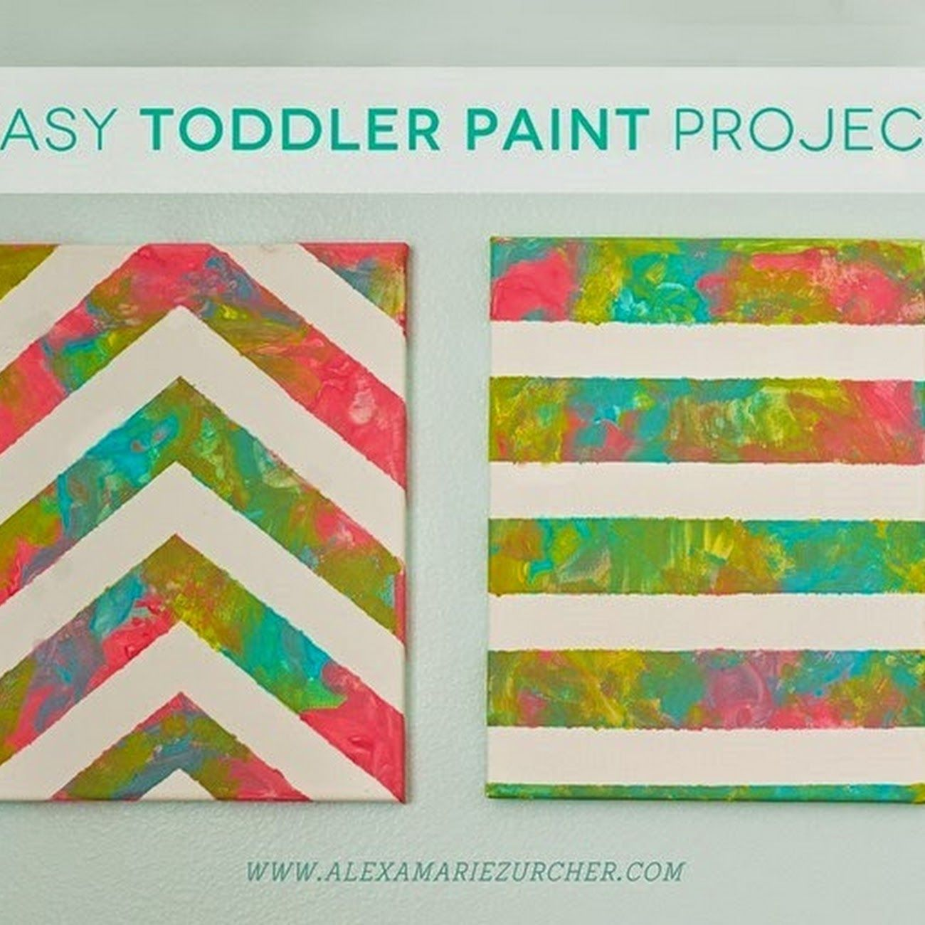 Easy toddler paint project nursery ideas pinterest for Canvas art ideas for kids