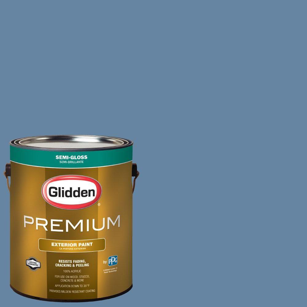 Glidden Premium 1 Gal Nba 075a Memphis Grizzlies Blue Semi Gloss Exterior Paint Exterior Paint Glidden Premium Interior Paint