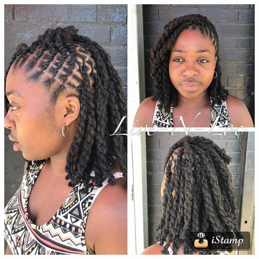I Would Love To Get This Style Short Locs Hairstyles Hair Styles Natural Hair Styles