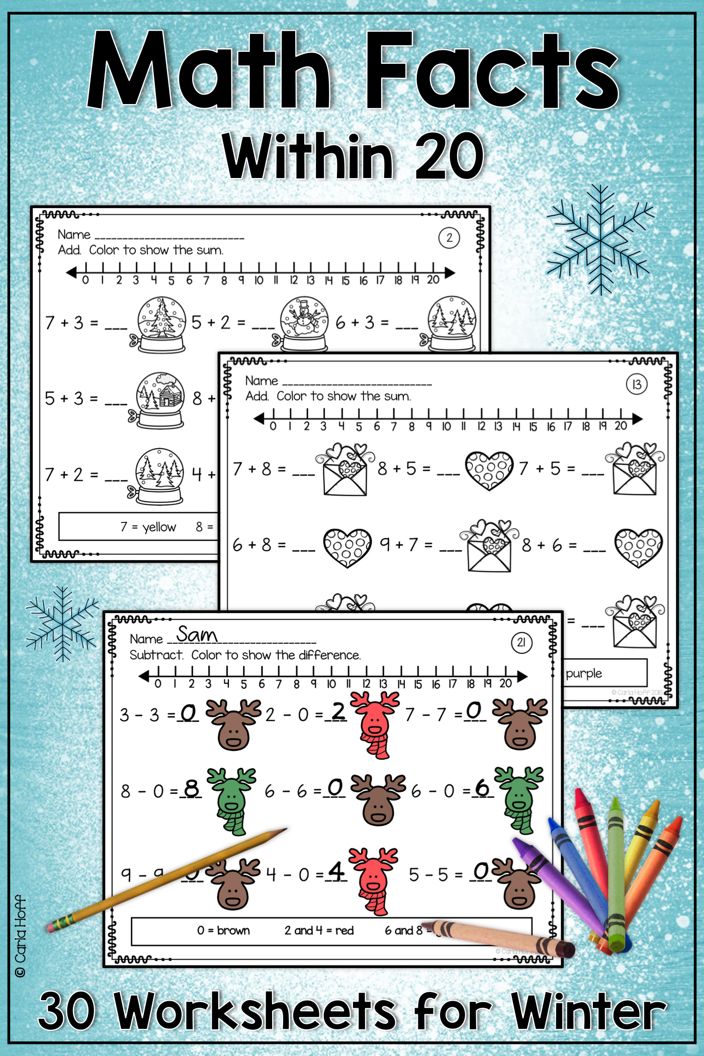 Winter Addition And Subtraction Within 20