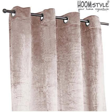 HOOMstyle kant & klaar gordijn semi-verduisterend velours stof ...