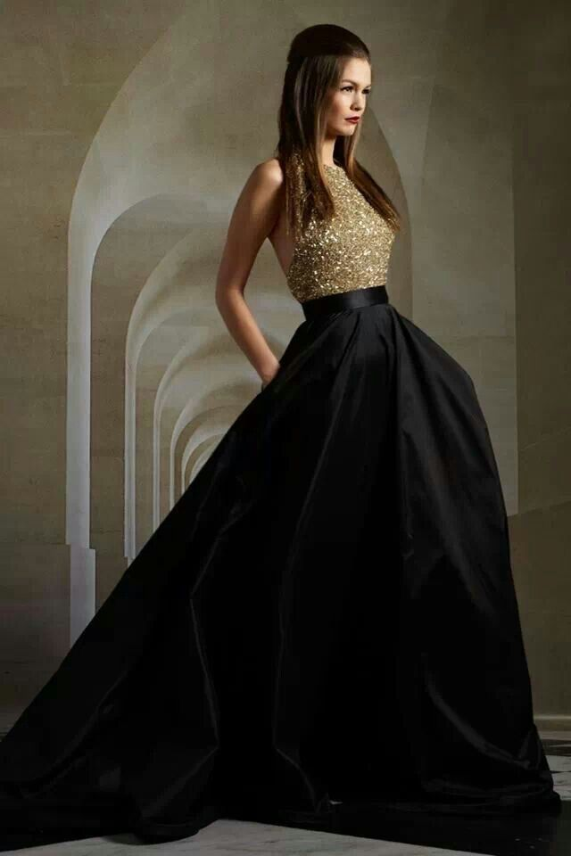 Gold With Black Hair And Dresses Pinterest Dresses Prom