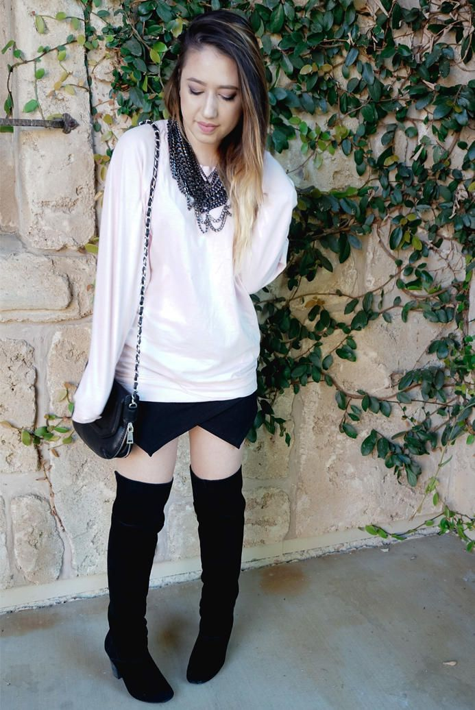 Slouchy Dolman Tunic Posted by: http://www.thebeautifulmelody.com/3-ways-to-style-an-oversized-sweater/