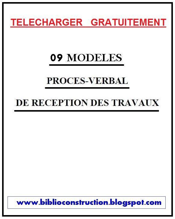Télécharger 9 exemples de Procès Verbal PV - Livres et ...