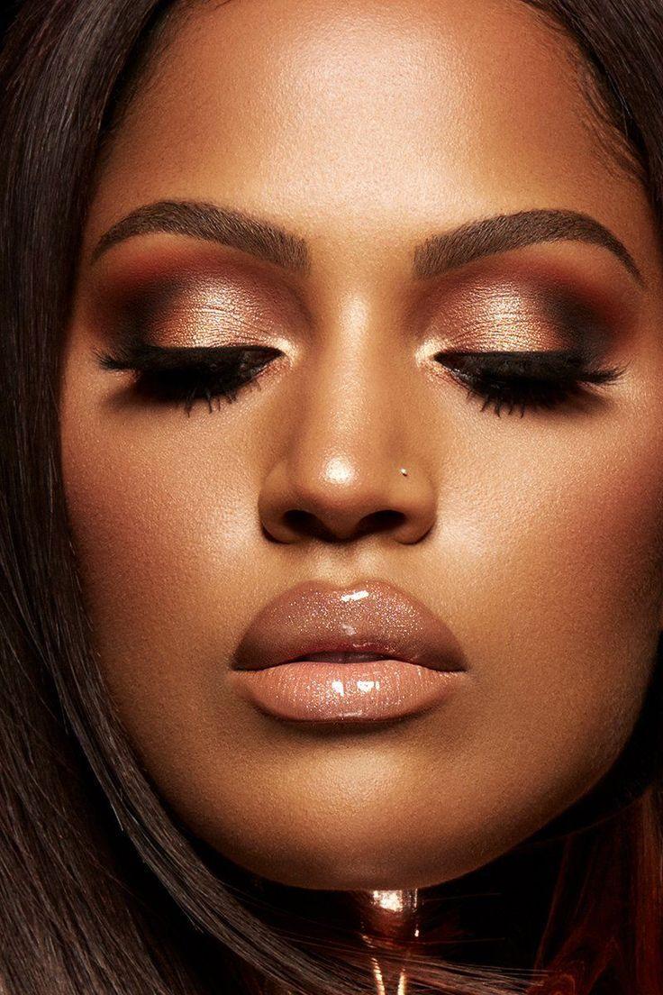 Satin warm peach Luz Lipstick on Shaula. beauty