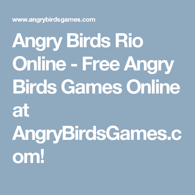 Browser Angry Birds games - Play Free Games Online
