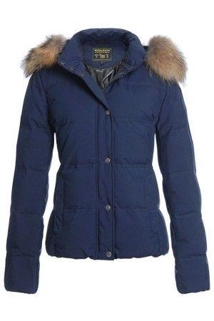 Woolrich Norwegian Women Fur Blue