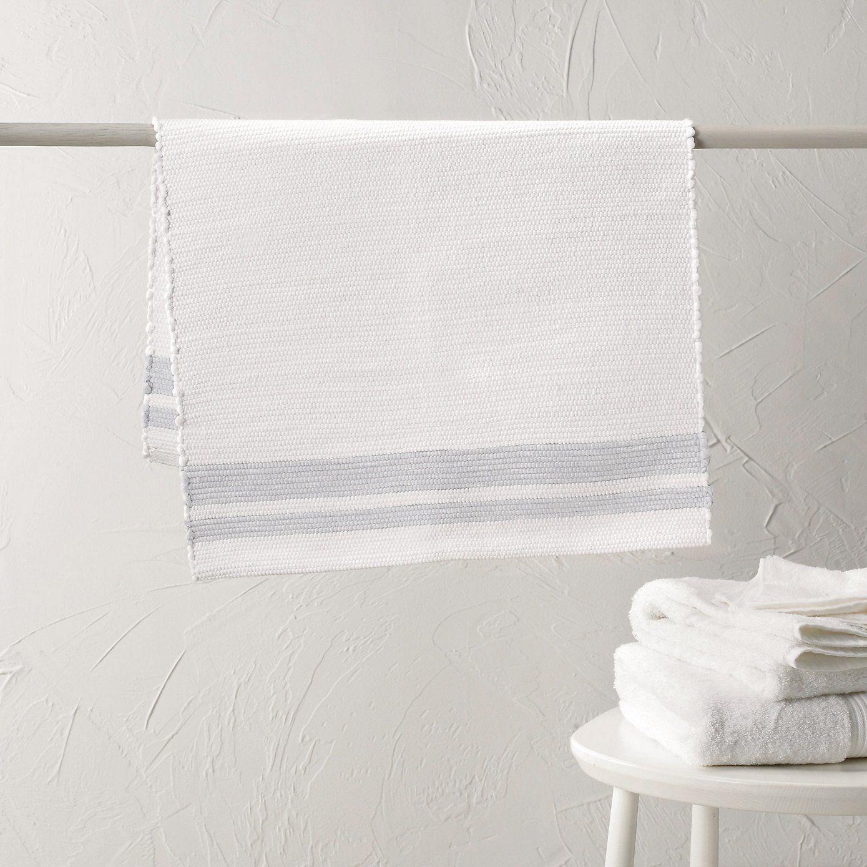 Buy Bathroom Bath Mats Toulon Stripe Bath Mat Blue White