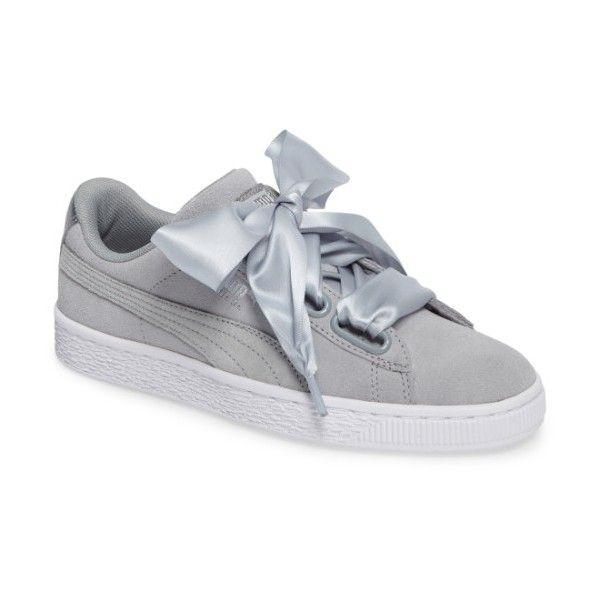 1bb386bbfd Womens Puma Basket Heart Sneaker (115 CAD) ❤ liked on Polyvore featuring  shoes, sneakers, wide width shoes, puma sneakers, heart shoes, puma footwear  and ...