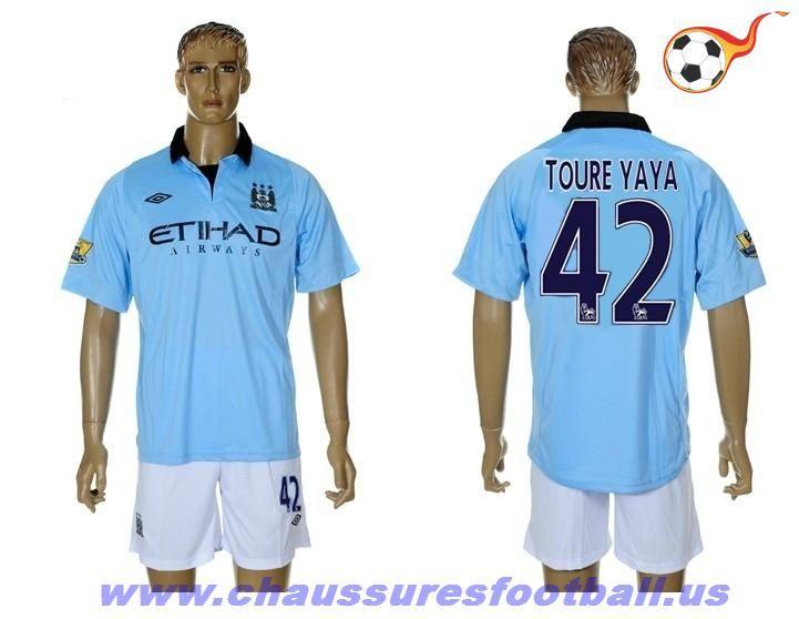 Manchester City Maillot Toure Yaya 42 Domicile 2012-2013 FT70