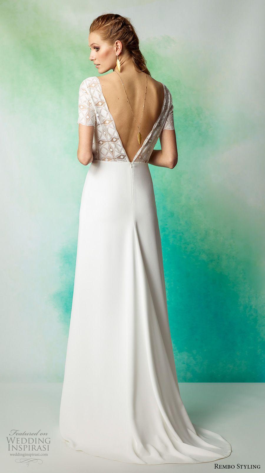 Rembo Styling 2017 Wedding Dresses | Bateau neckline, Wedding dress ...