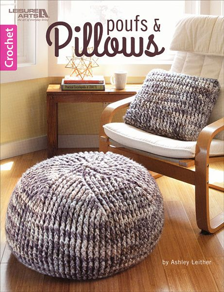 Poufs and Pillows crochet patterns to make poufs and pillows - aff ...