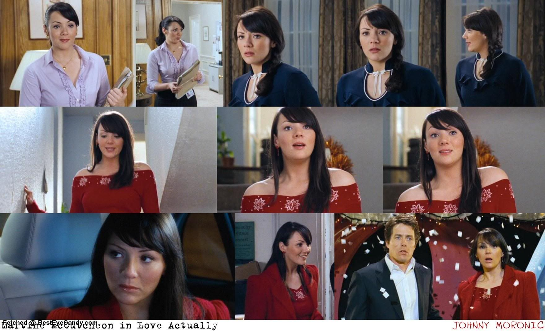 Martine Mccutcheon As Natalie In Love Actually Love Actually Love Actually 2003 Red Sweaters