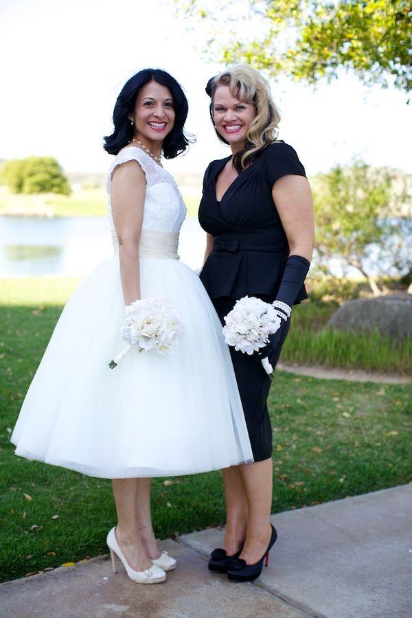 Sweet 1950s Style Black White Vintage Wedding