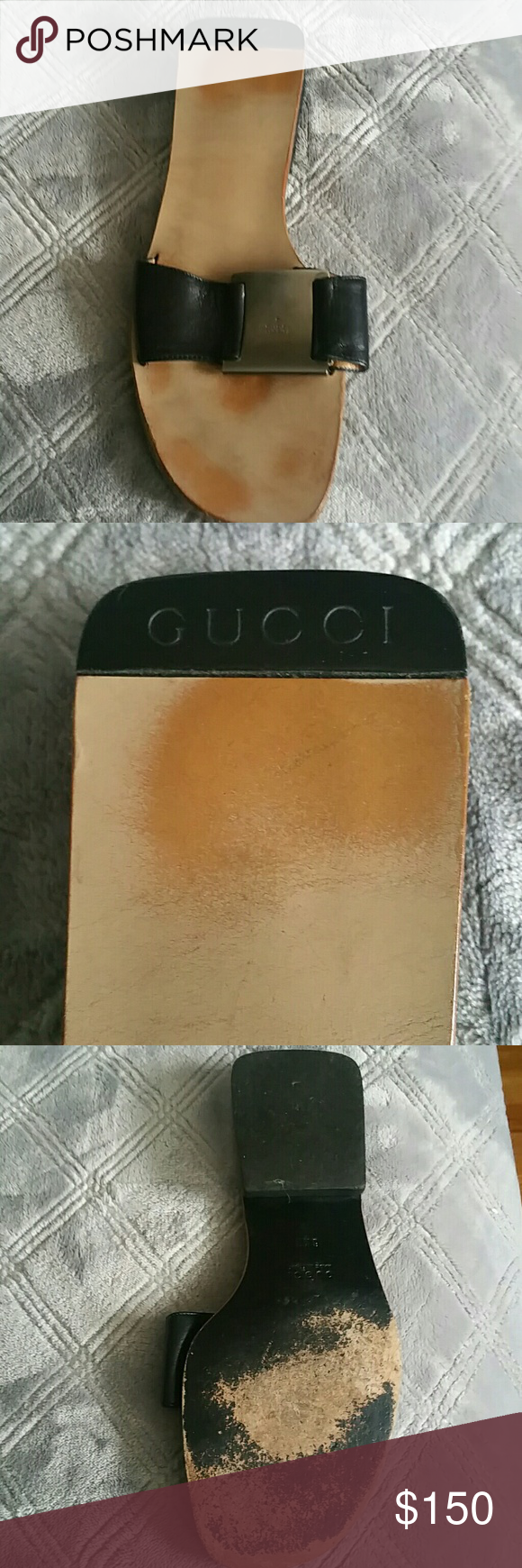 Gucci slide 6 1/2 Beautiful gucci slide excellent very lightly used condition with dust bag. PRICED TO SELL Gucci Shoes Sandals