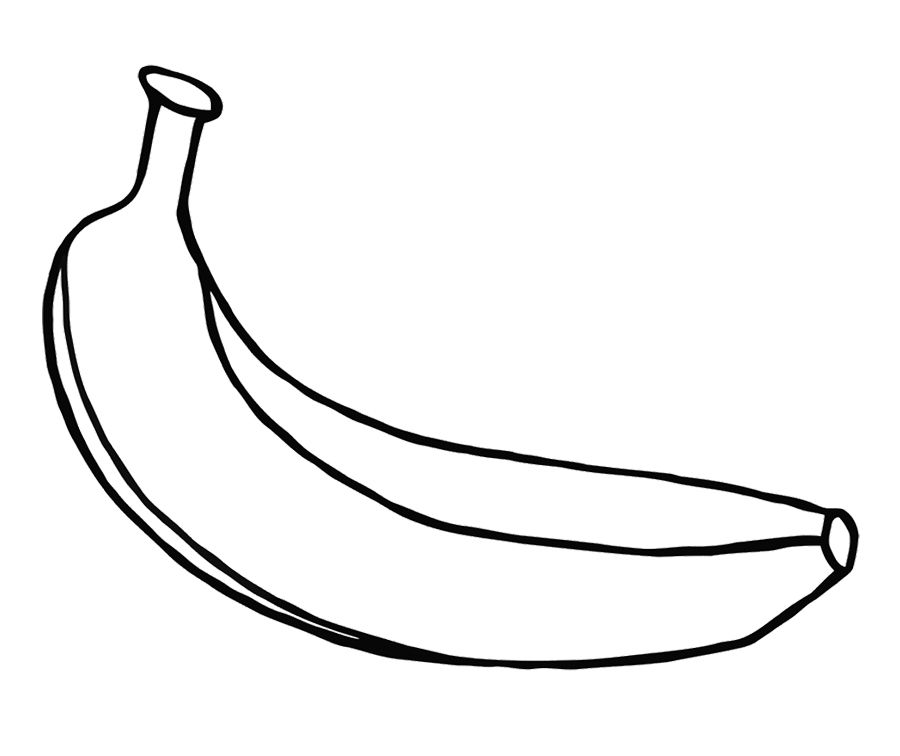 Pictures Color With Images Fruit Coloring Pages Banana Fruit