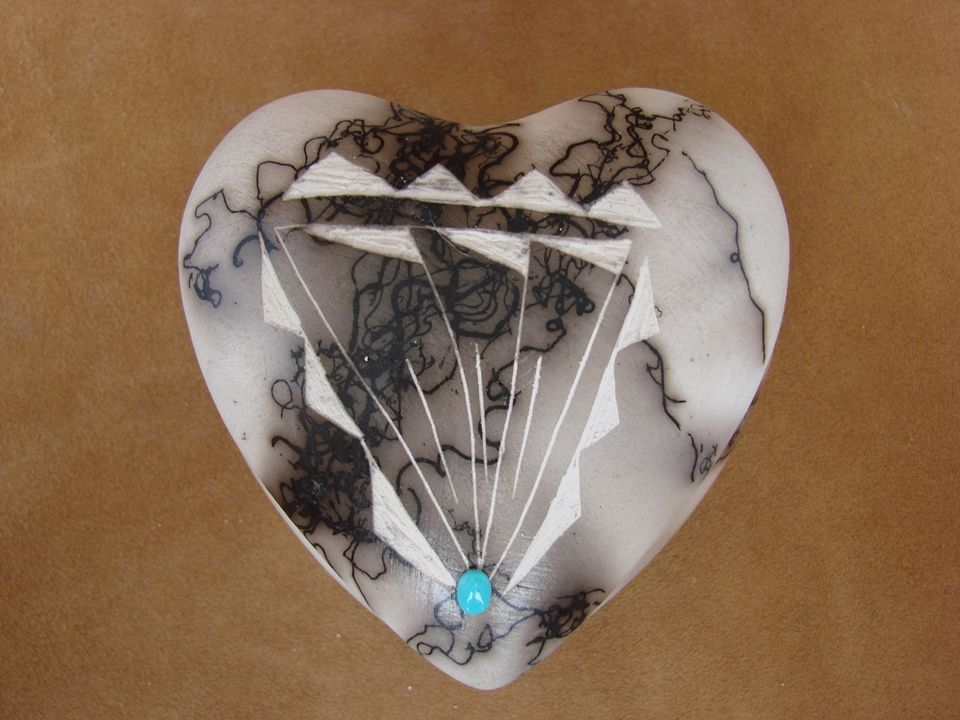 American Trinkets | Native American Horse Hair Heart Trinket