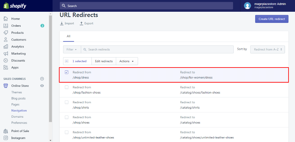 Delete URL Redirects Individually in 2020 Avada, Recover