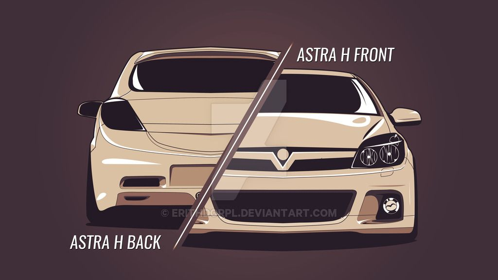 Opel Astra H Front And Back By Erithdorpl Deviantart Com On