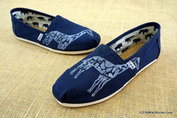 005baa33590 Giraffe Custom TOMS Shoes by themattbutler on Etsy