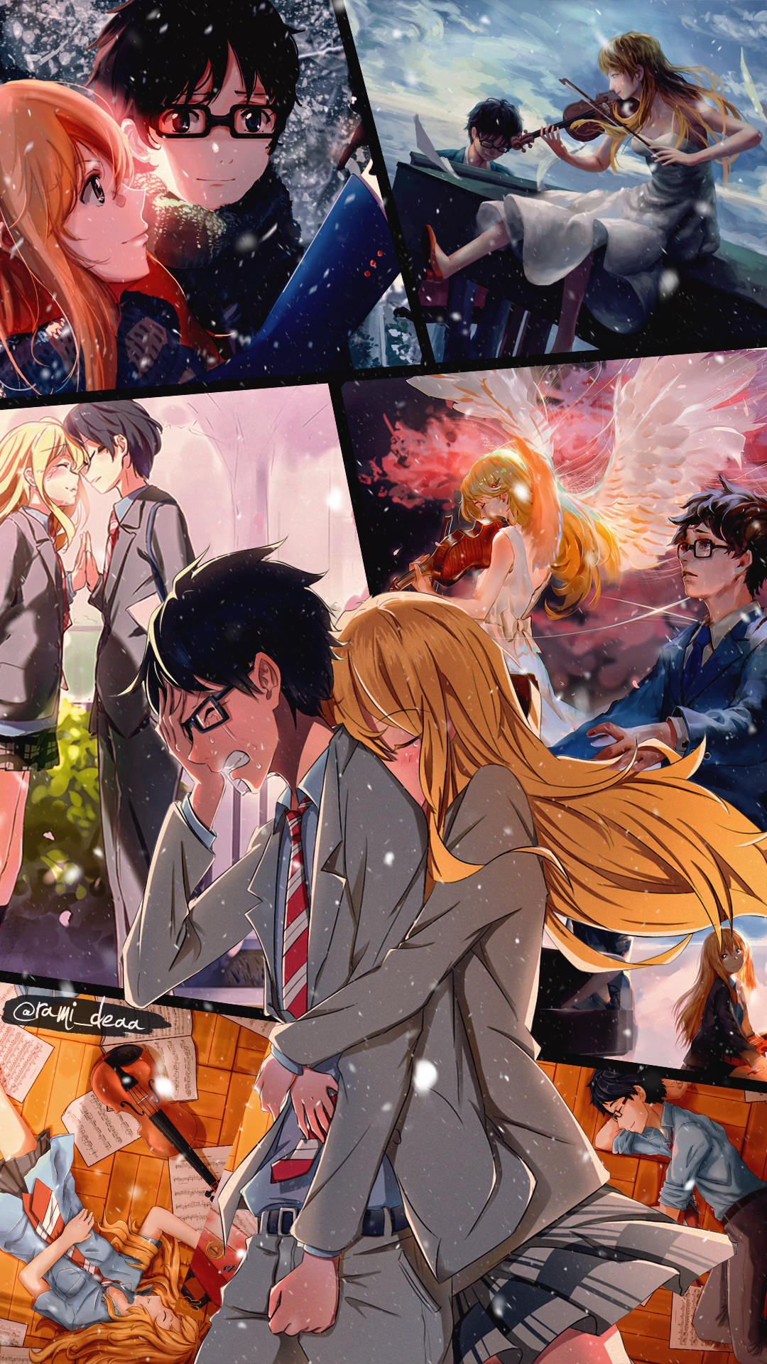 Your Lie In April Personagens De Anime Menina Anime