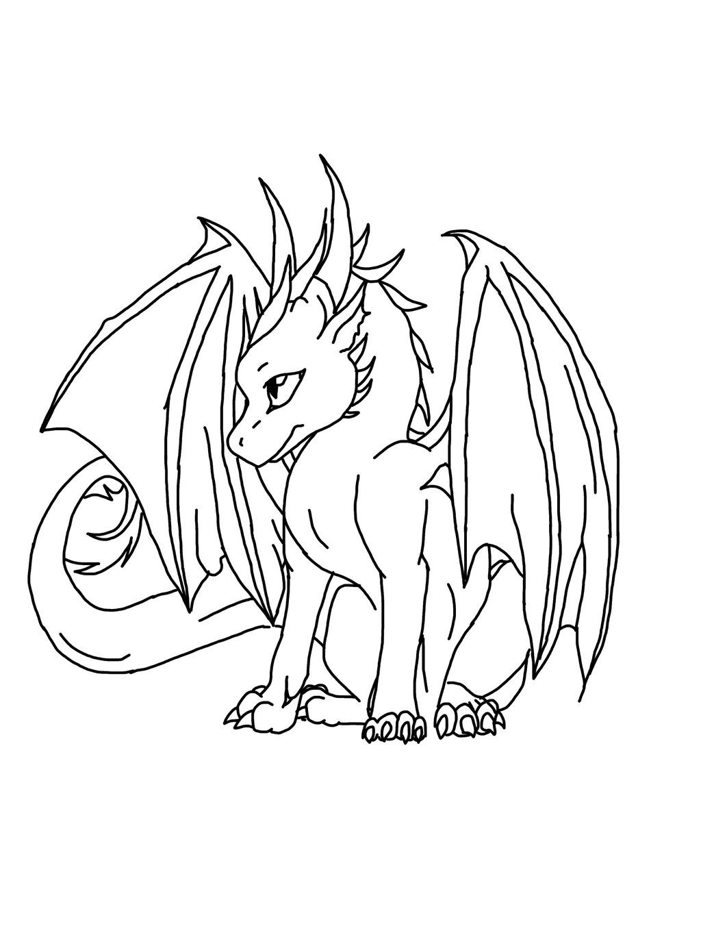Pix for cool easy dragons drawings pinterest for Cool dragon coloring pages