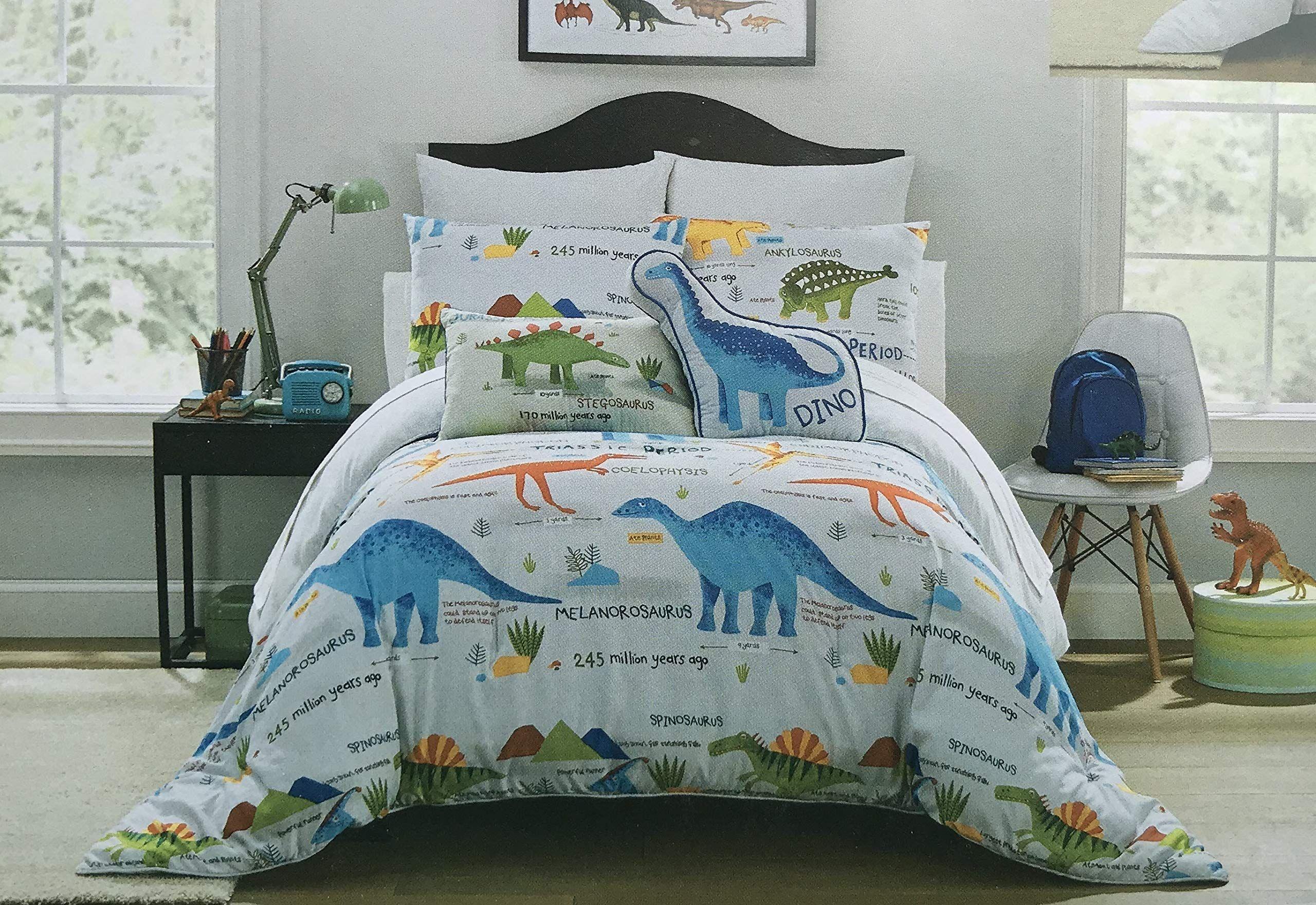 boy zone dinosaurs comforter set twin or queen dino