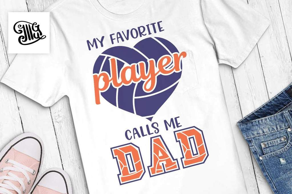 Download My favorite player calls me dad svg, volleyball svg ...